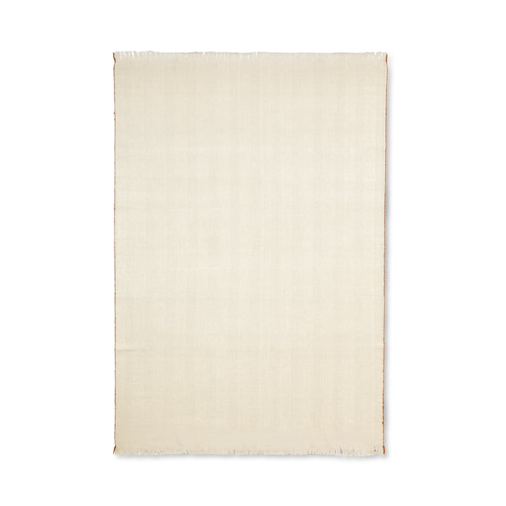 Herringbone blanket 120 x 180 cm from ferm Living in white
