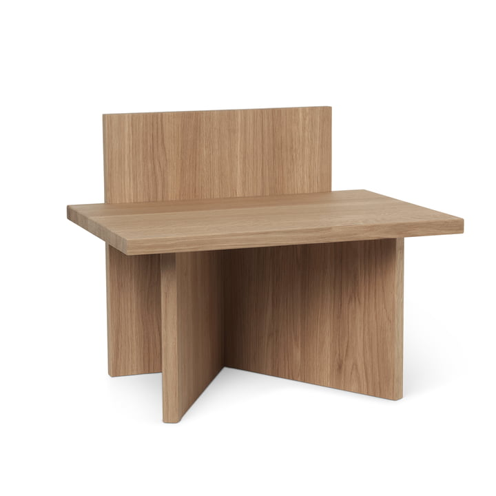 Oblique stool/ shelf from ferm Living in oak matt lacquered