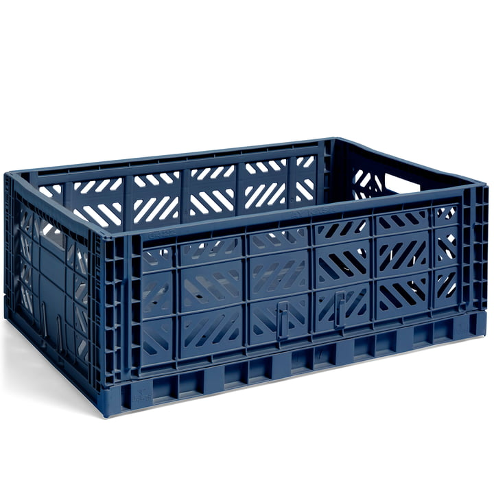 Colour Crate basket L, 60 x 40 cm from Hay in navy
