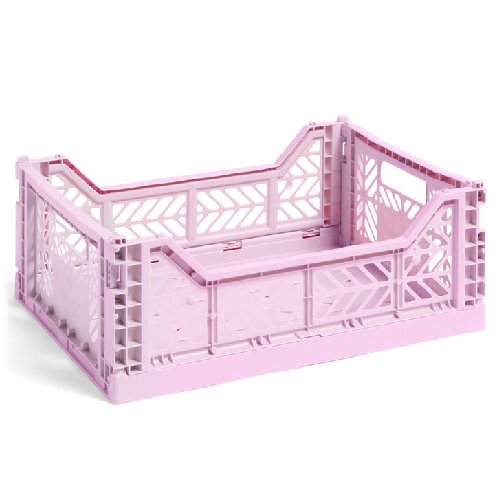 Colour Crate Basket M, 40 x 30 cm from Hay in lavender