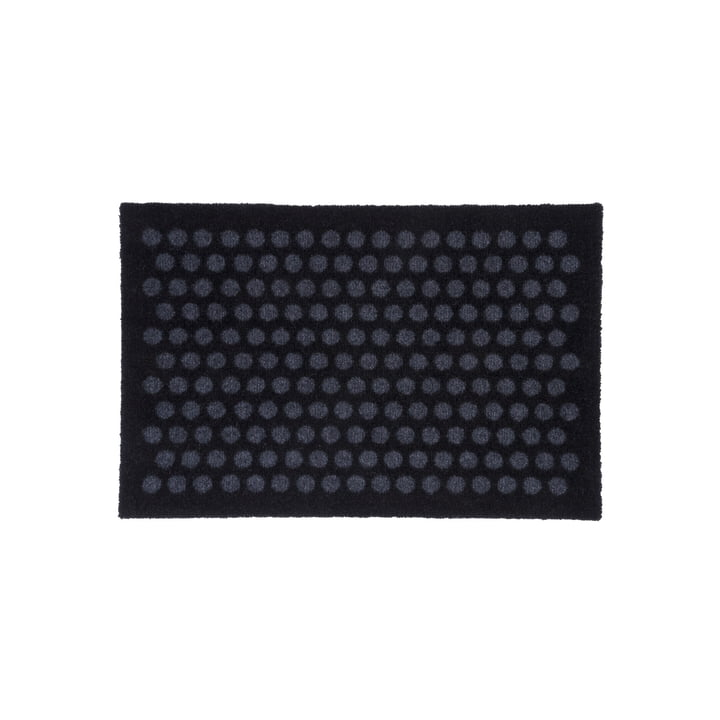 Dot doormat 40 x 60 cm from tica copenhagen in black / grey