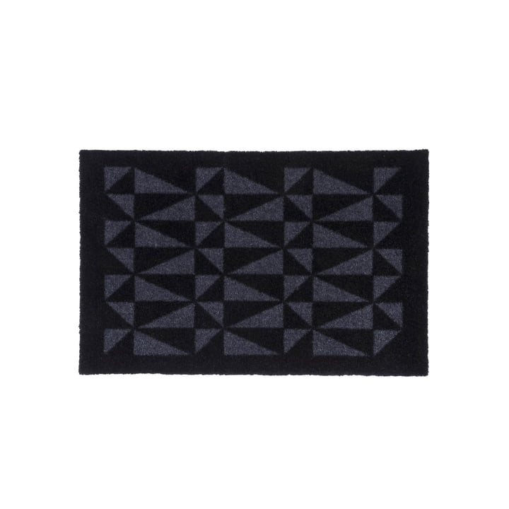 Graphic doormat 40 x 60 cm from tica copenhagen in black / grey