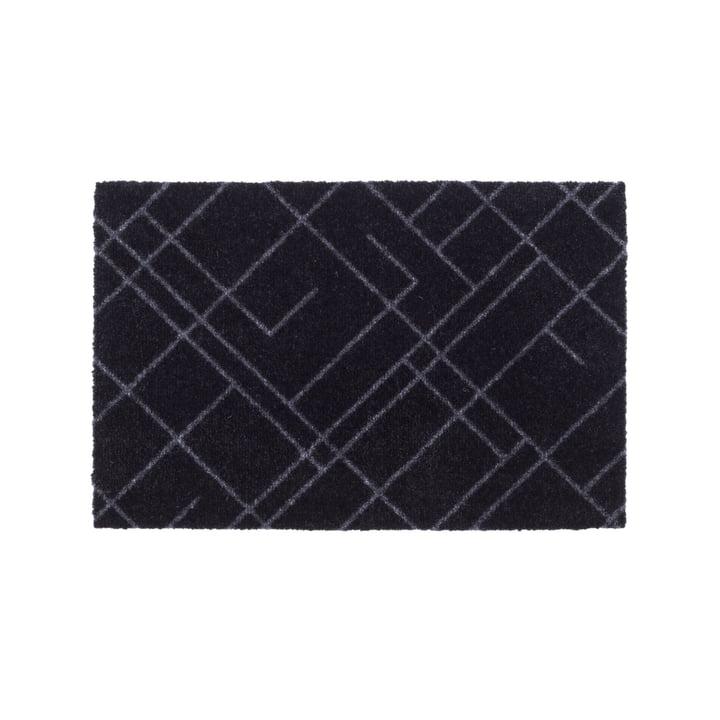 Lines doormat 40 x 60 cm from tica copenhagen in black / grey
