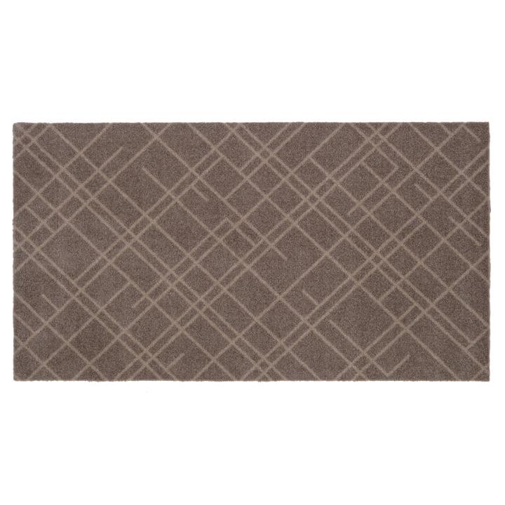 Lines doormat 67 x 120 cm from tica copenhagen in sand / beige