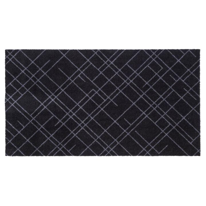 Lines Doormat 67 x 120 cm from tica copenhagen in black / grey