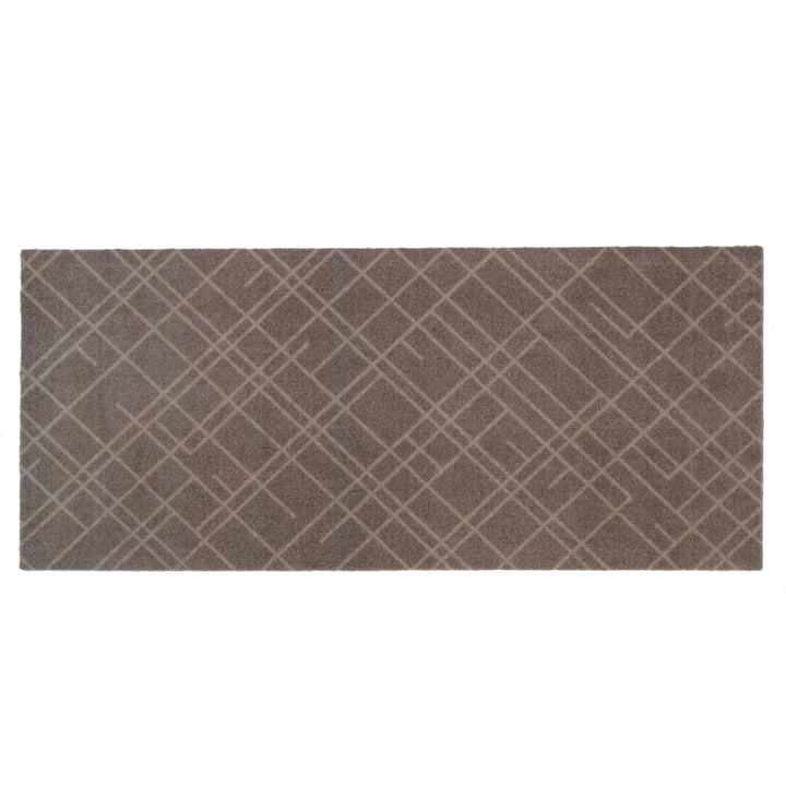 Lines Doormat 67 x 150 cm from tica copenhagen in sand / beige