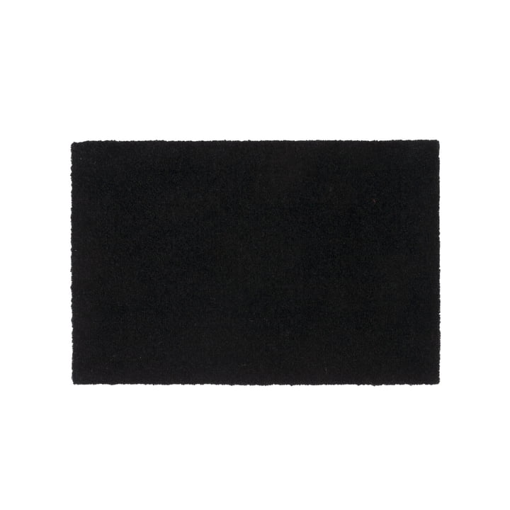 Doormat 40 x 60 cm from tica copenhagen in Unicolor black