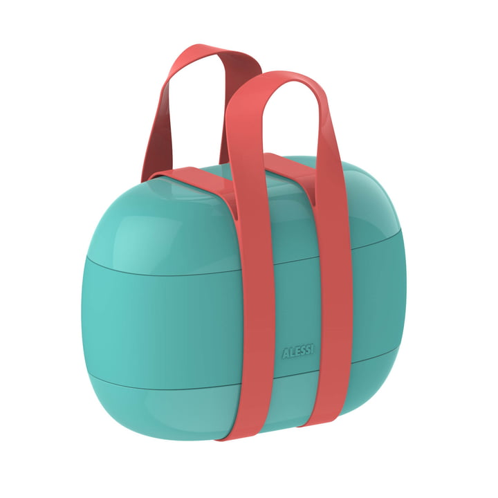Food à Porter Lunchbox by Alessi in light blue