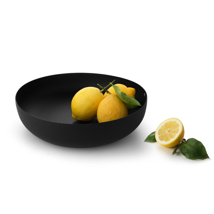 bowl Ø 29 x H 7,5 cm from Alessi in black with relief decoration