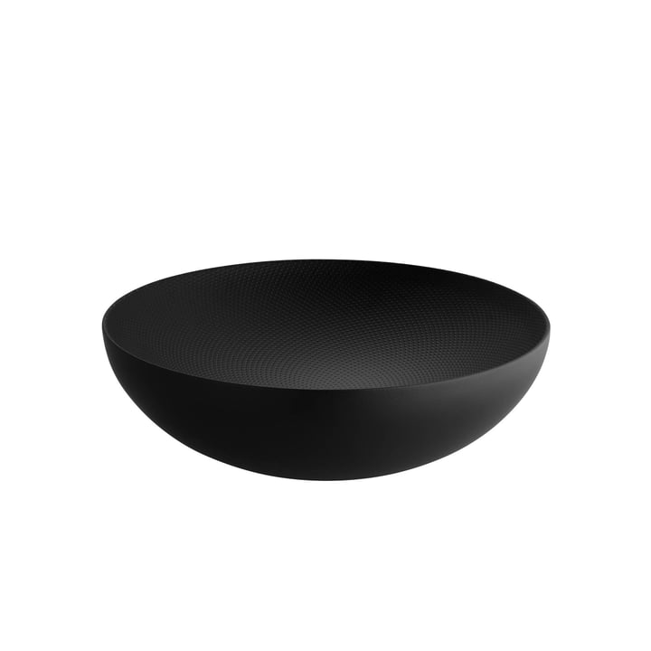 Double-walled bowl Ø 25 x H 7,3 cm from Alessi in black with relief decoration