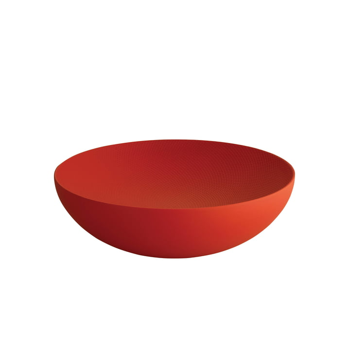 Double-walled bowl Ø 25 x H 7,3 cm by Alessi in red with relief decoration