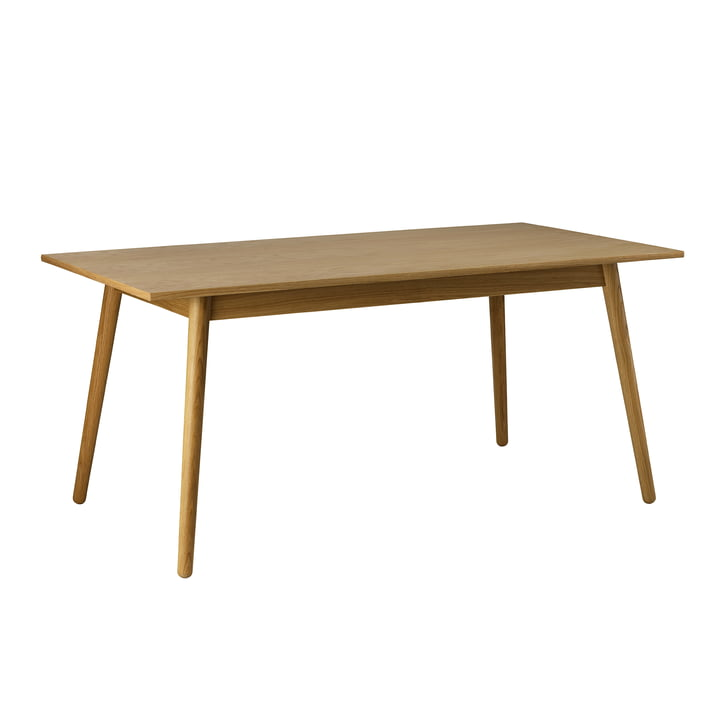 C35B Dining table 82 x 160 cm from FDB Møbler in oak matt lacquered