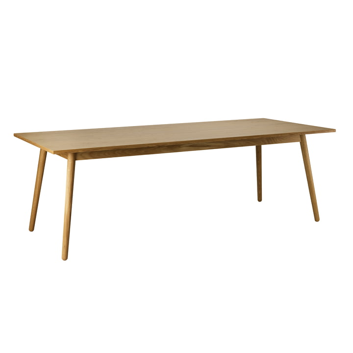 C35C Dining table, 95 x 220 cm, oak matt lacquered by FDB Møbler