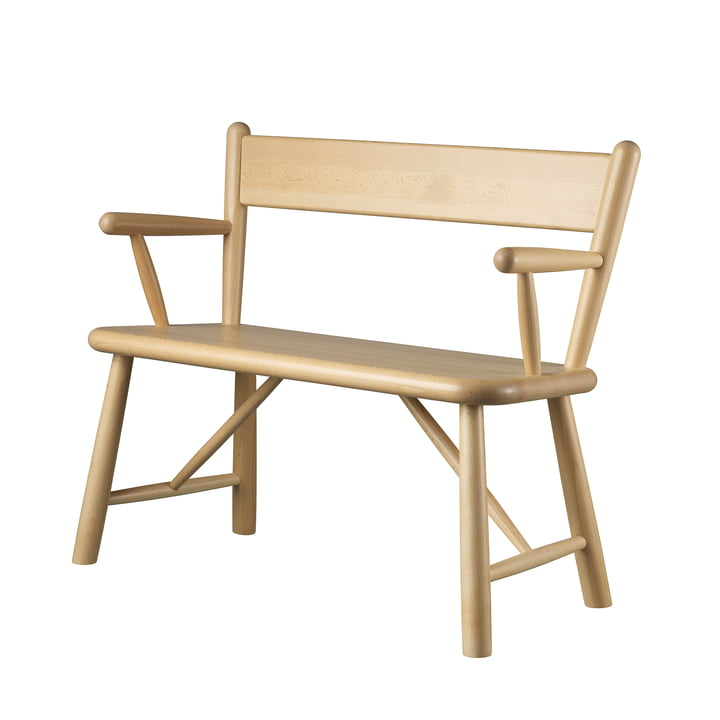 P11 children's bench by FDB Møbler in beech clear lacquered