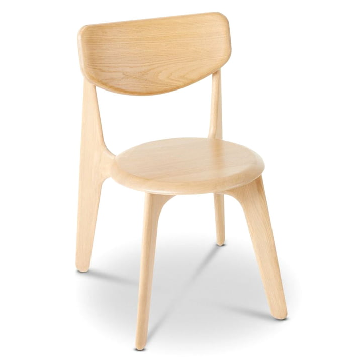 Slab Side Chair by Tom Dixon in natural oak