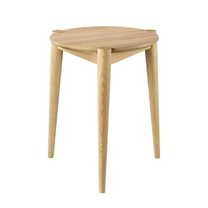 J160 Søs stool from FDB Møbler in matt oak lacquer