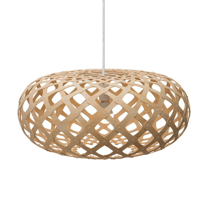 Kina pendant lamp Ø 60 cm by David Trubridge in nature on both sides
