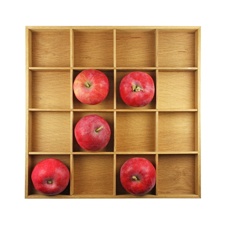 Apple box, 31 x 31 cm, oak light oiled by Raumgestalt