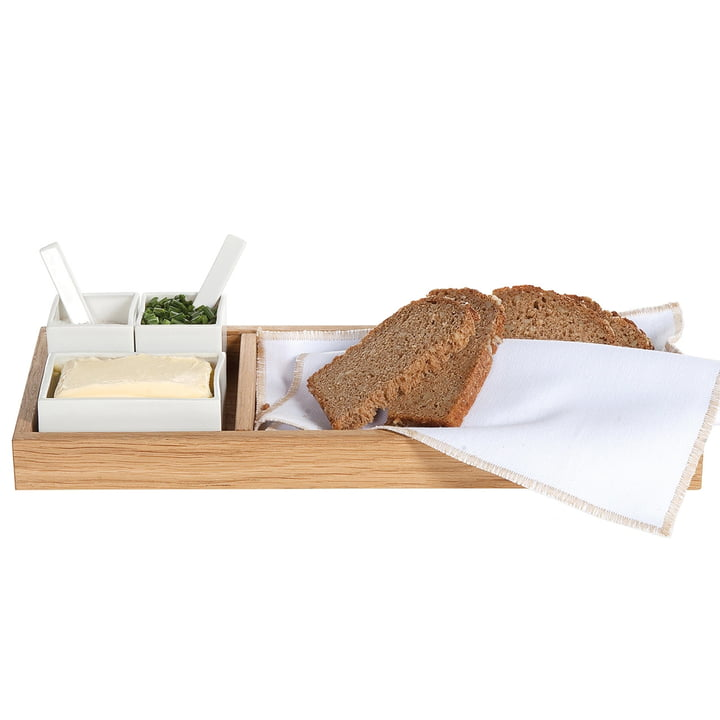 Bread, butter &, salt, oak / white of interior design