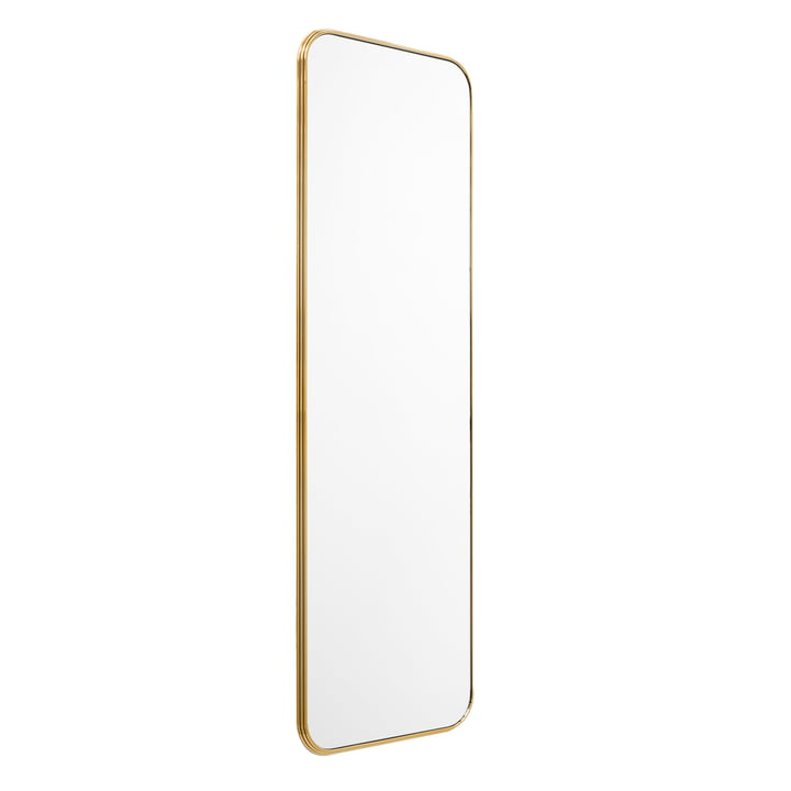 Sillon wall mirror SH7 60 x 190 cm from & tradition in brass