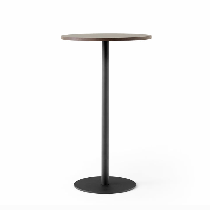 Nærvær Bistro table NA12 Ø 60 x H 102 cm from & Tradition in black / oak smoked