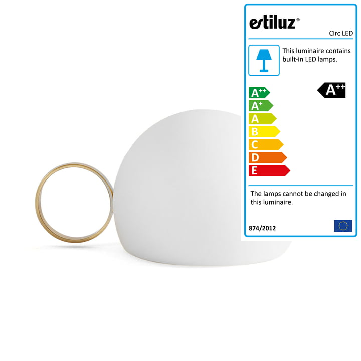 Circ LED Battery Table Light M-3726 by Estiluz in gold