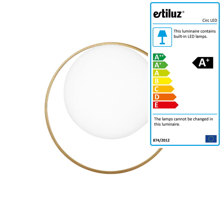 Circ LED wall lamp from Estiluz in gold
