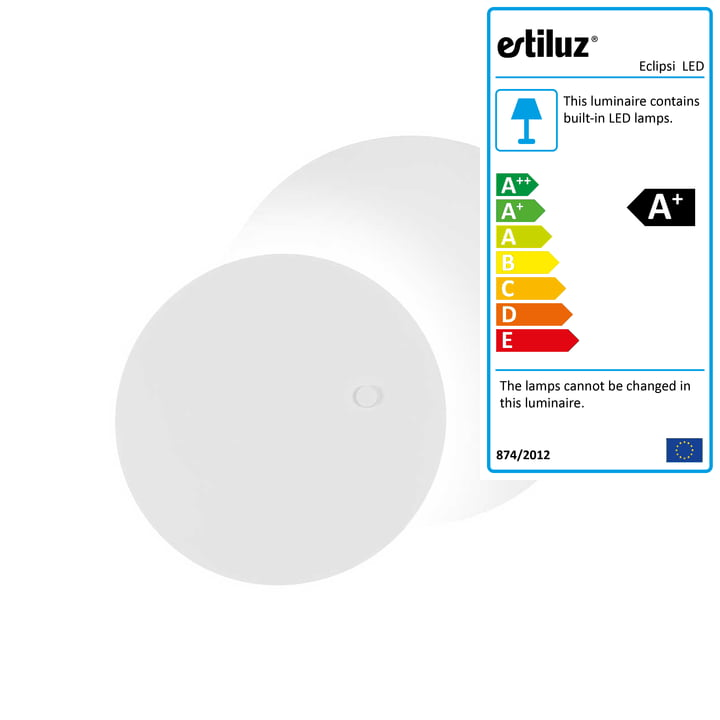 Eclipsi LED wall and ceiling light Ø 50 cm from Estiluz in white