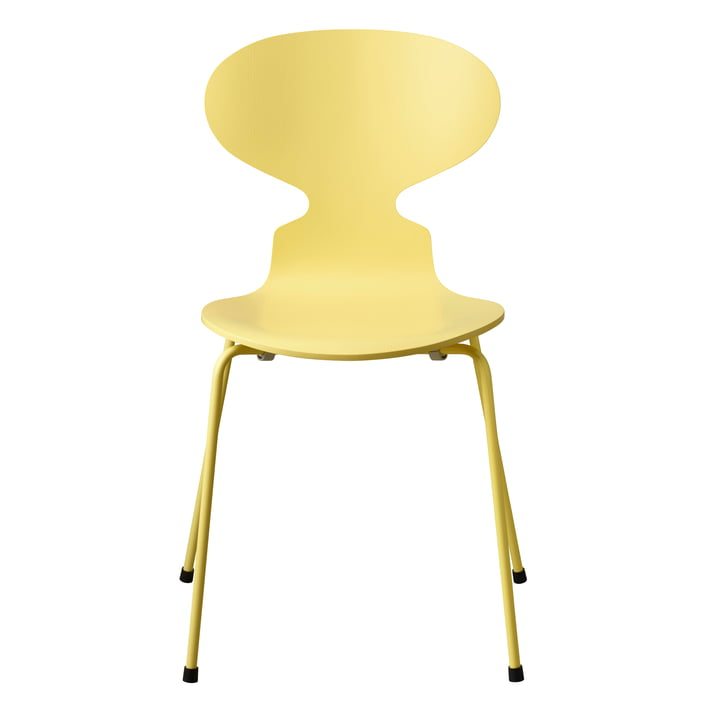 The Ant Chair Monochrome by Fritz Hansen in pale yellow (4 legs)