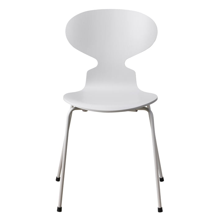 The Ant Chair Monochrome by Fritz Hansen in pale grey (4 legs)
