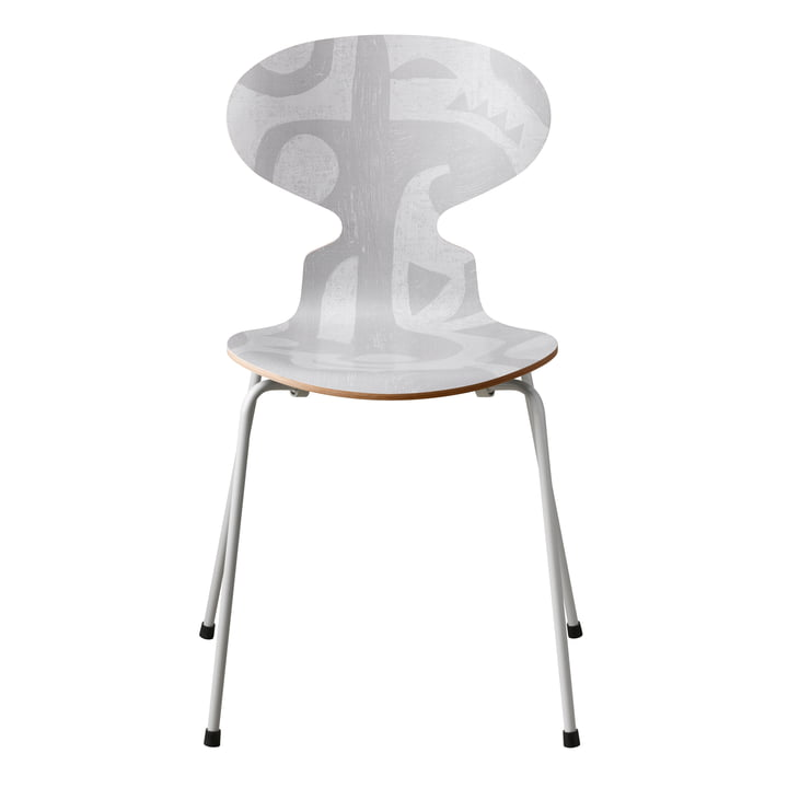 The Ant Chair Deco Silhouette by Fritz Hansen in grey (4 legs)