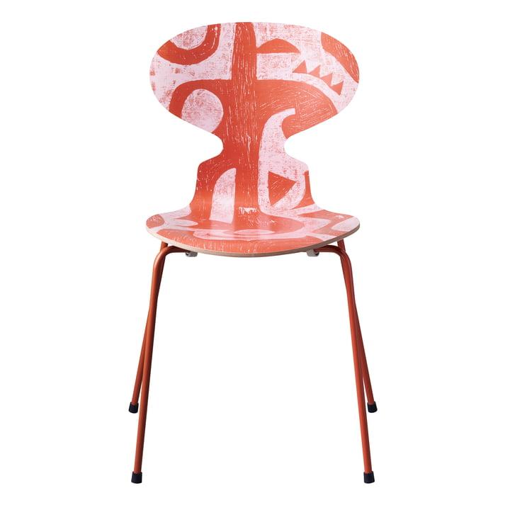 The Ant Chair Deco Silhouette by Fritz Hansen in orange (4 legs)