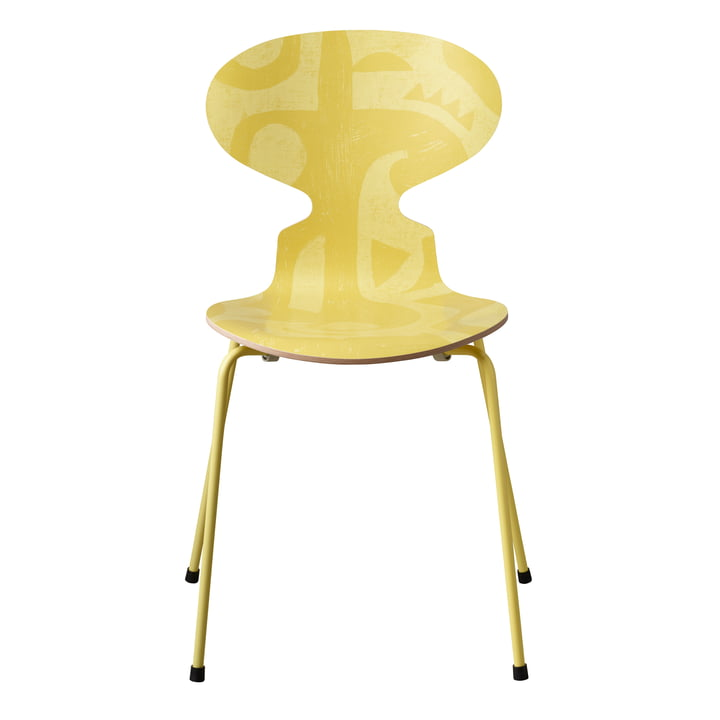 The ant chair Deco Silhouette by Fritz Hansen in yellow (4 legs)
