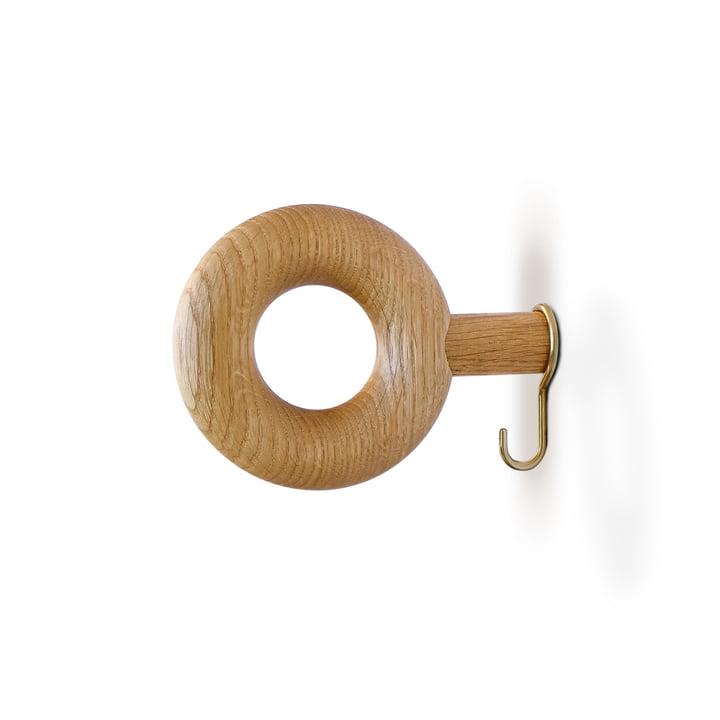 Wall hook ONO 9 cm from vonbox in oak