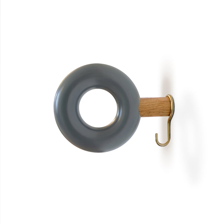 Wall hook ONO 9 cm from vonbox in grey