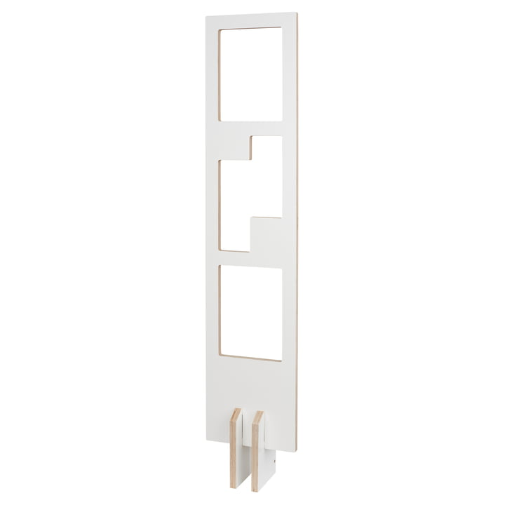 reading material bookshelf by Tojo in white