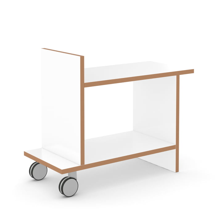 friendly side table by Tojo in white