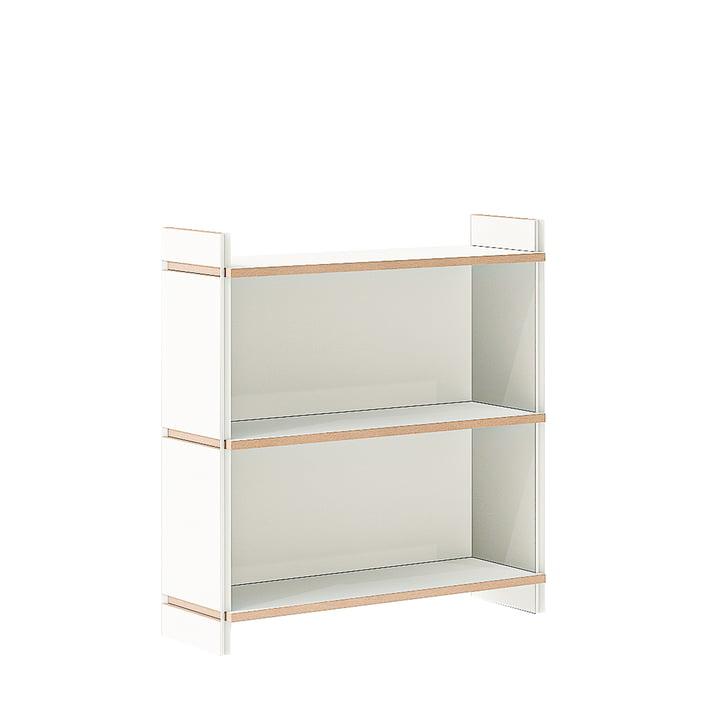 multiple shelf double basic module from Tojo in white