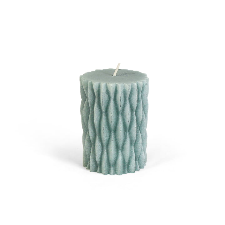 Block candle for Advent wreath in mint green