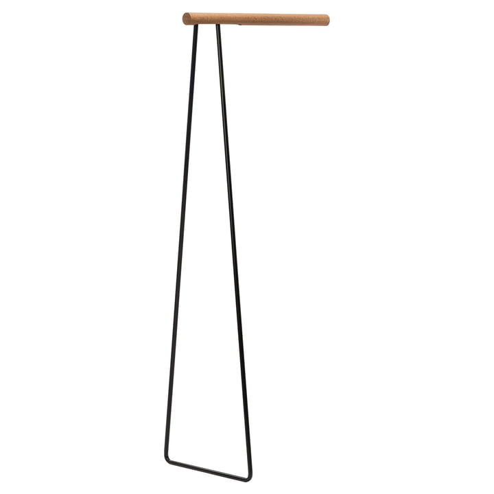 Clothes Rack Wall coat rack by LindDNA in steel black / oak nature