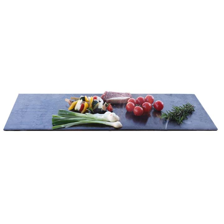 Teppanyaki plate for fire bowl 70 x 28 cm of room design
