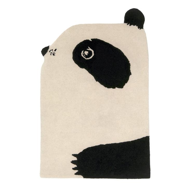 Tierteppich Panda 100 x 70 cm from EO Denmark in black / beige