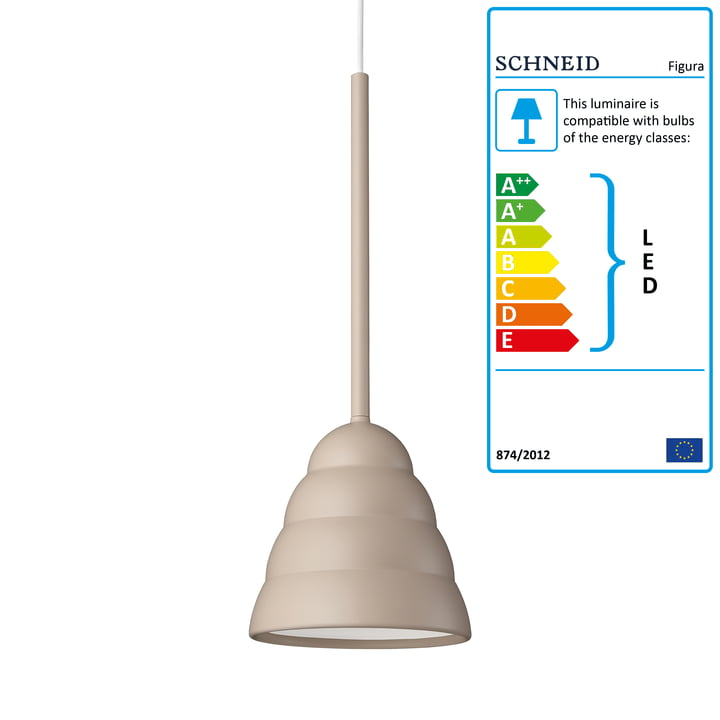 Figura Pendant lamp, Stream, desert sand of Schneid