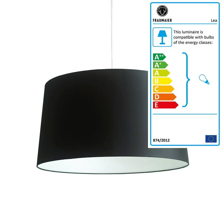 Lea pendant lamp by frauMaier in black