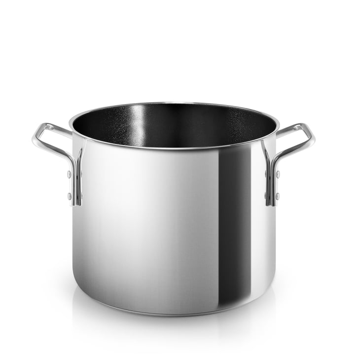 Cooking pot with ceramic coating 4. 8 l from Eva Trio in stainless steel