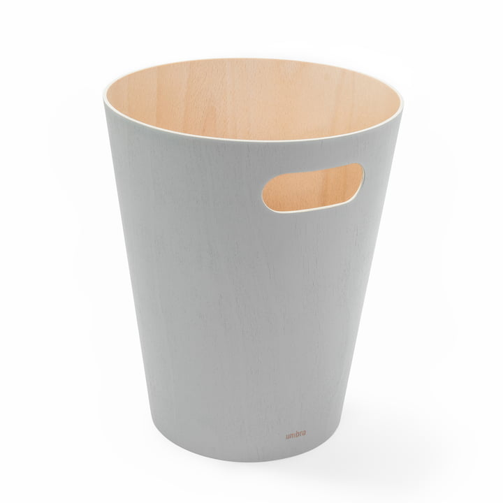 Woodrow wastebasket from Umbra in grey