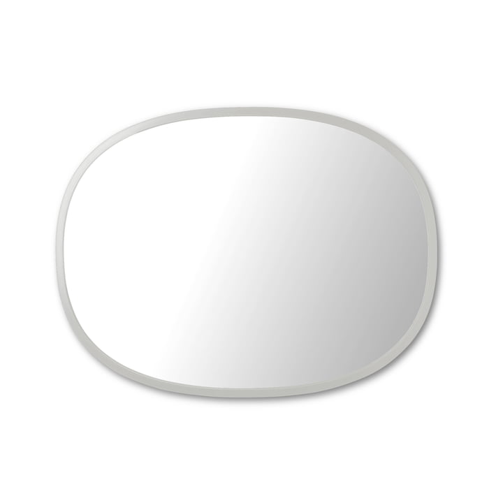 Hub mirror oval 45 x 60 cm from Umbra in grey