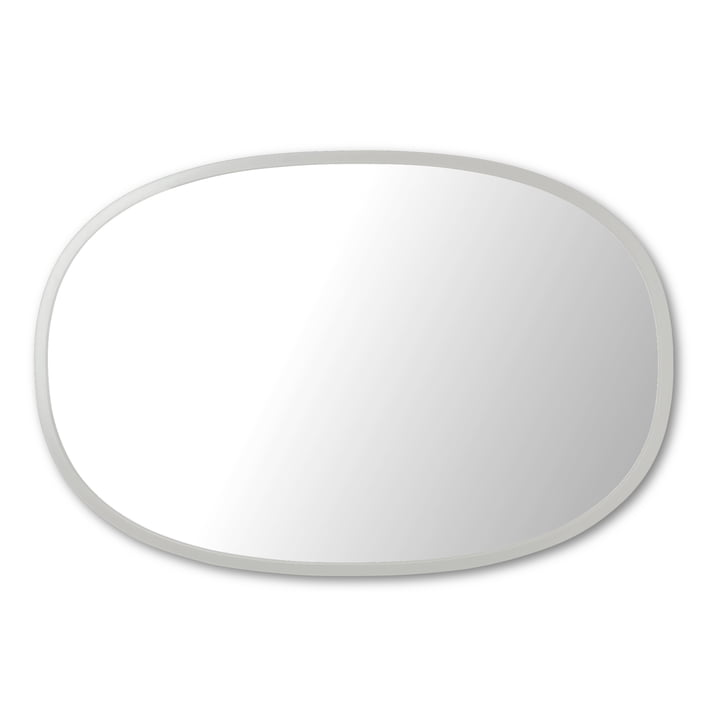 Hub mirror oval 61 x 91 cm from Umbra in grey