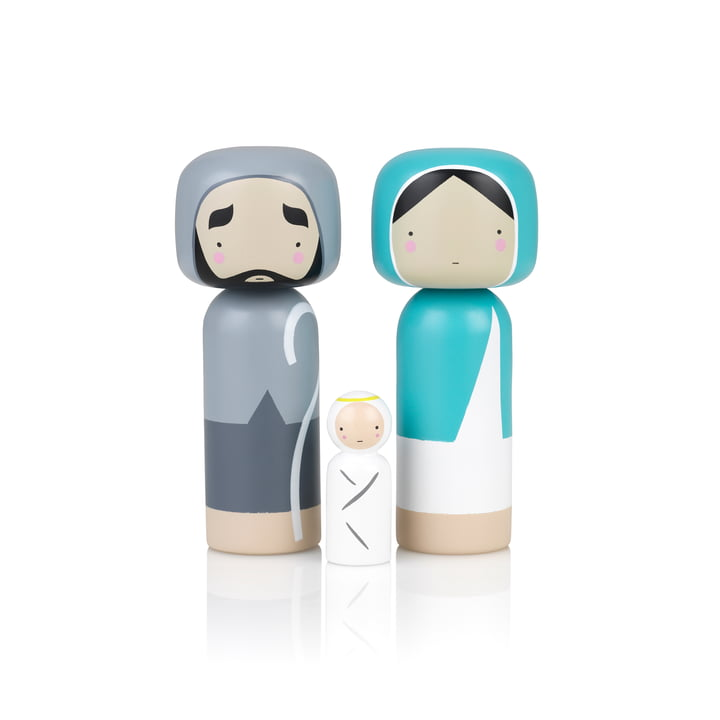 Sketch Inc. X-Mas wooden figures Maria, Josef & Christkind (3 pcs.) by Lucie Kaas