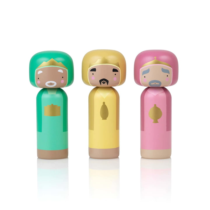 Sketch Inc. X-Mas wooden figures Holy Three Kings (3 pcs.) by Lucie Kaas